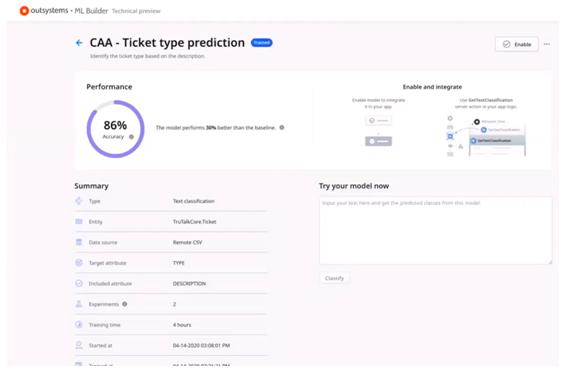 OutSystem Ticket