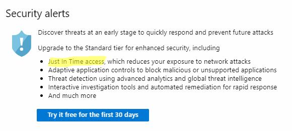 Seguridad mejora en el nivel Standard de Azure Security Center