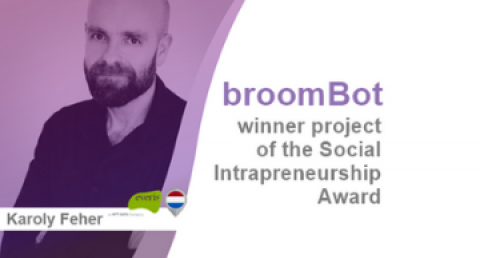 "everis Luxembourg's ""broomBot"" project wins the 2019-2020 Social..."