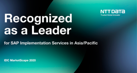 NTT DATA Recognized as a Leader in IDC MarketScape: Asia/Pacific SAP...
