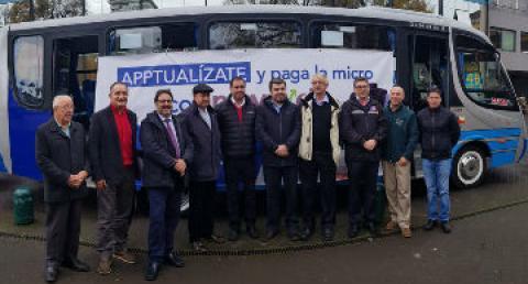 Autoridades presentan el nuevo sistema de transporte Moverick en Temuco