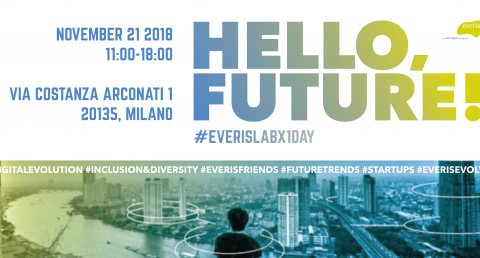 Hello Future! #everisLabX1Day: il 21 novembre everis Italia inaugura la nuova...