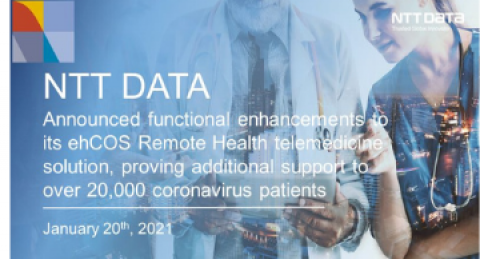 NTT DATA announced functional enhancements to its ehCOS Remote Health...