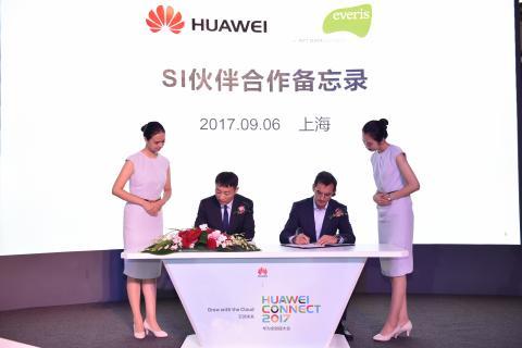 Firma acuerdo everis - Huawei