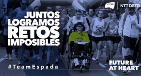 Carlos García Espada, afectado de ELA, lidera el Team Espada de everis-NTT...