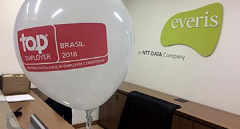 everis recebe certificação Top Employers Brasil pelo terceiro ano consecutivo