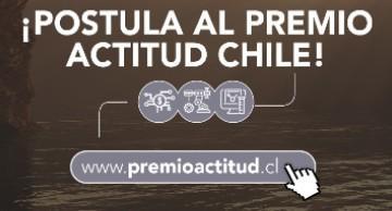 Gráfica de llamado a postular al Premio Actitud Chile