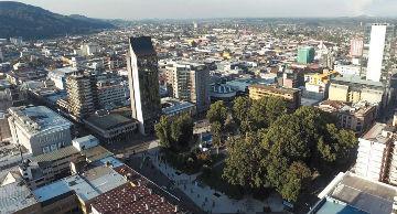 Foto desde el aire del centro de Temuco