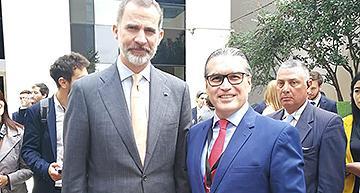 Teodoro López Palacios con el Rey Felipe VI